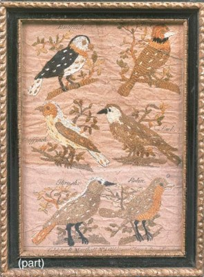 An English woven silk picture