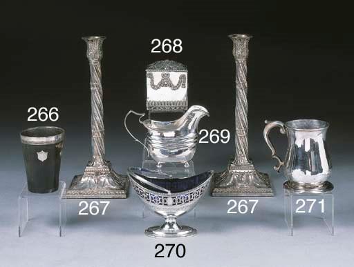 A George V Silver Sugar Basket