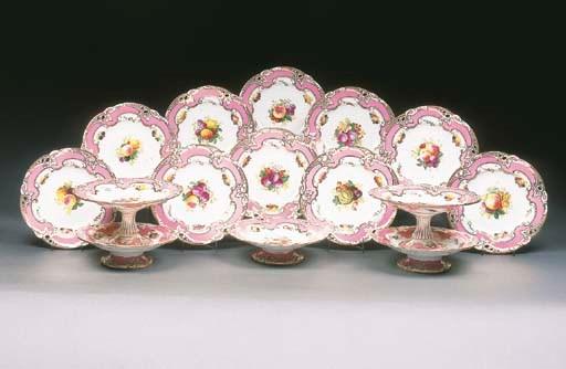 A Minton pink-ground part dess