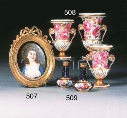 A Continental porcelain oval p