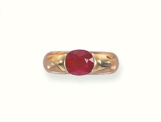 A RUBY RING, BY CARTIER
