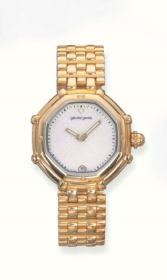 AN 18K GOLD WRISTWATCH, BY GER