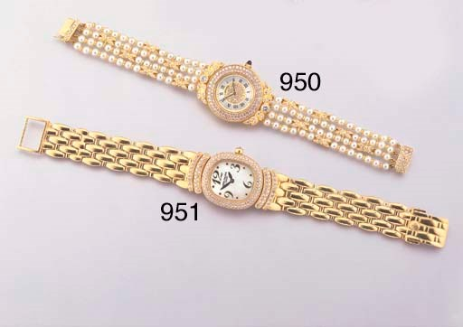 BREGUET. A LADY'S 18K GOLD AND