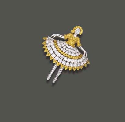 A DIAMOND AND YELLOW DIAMOND D