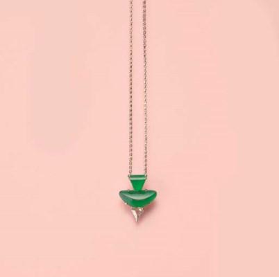 A UNIQUE JADEITE AND DIAMOND P