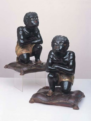 A PAIR OF VENETIAN BLACKAMOOR