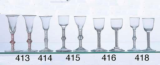 A GEORGIAN AIR TWIST WINE GLAS