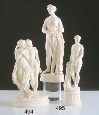 TWO VICTORIAN PARIAN FIGURES O