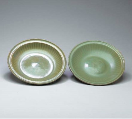 Two Celadon Chargers,