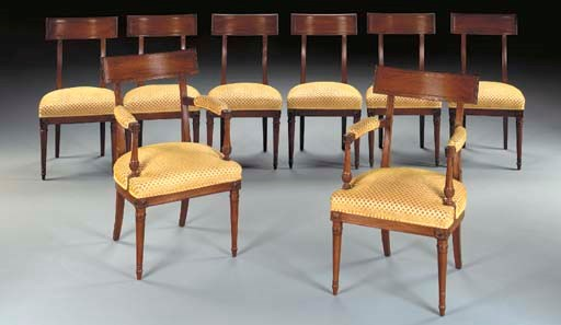 A SET OF EIGHT DIRECTOIRE MAHO