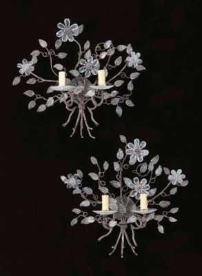A PAIR OF LOUIS XV STYLE GLASS