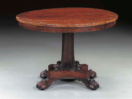 A GEORGE IV MAHOGANY AND ROSEW