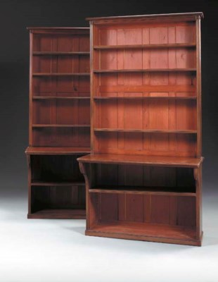 A PAIR OF VICTORIAN MAHOGANY B