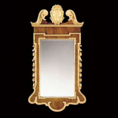 A GEORGE II STYLE PARCEL-GILT