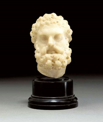 A ROMAN MARBLE HEAD OF HERCULE