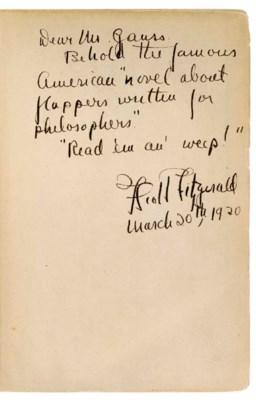 FITZGERALD, F. Scott (1896-194