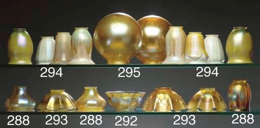 TWO FAVRILE GLASS GLOBE-SHAPED