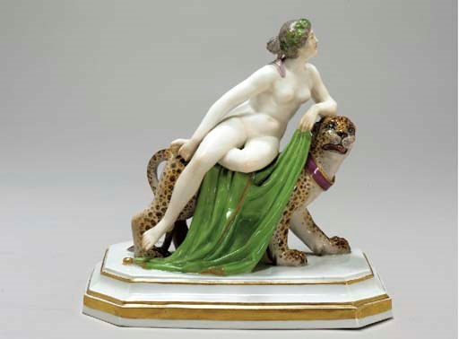 A MEISSEN FIGURE GROUP OF ARIA