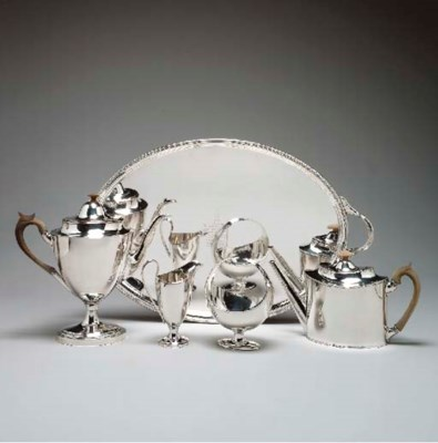AN EARLY SHEFFIELD-PLATED TEA