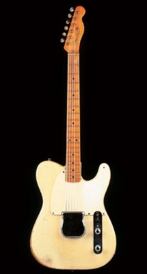 A SOLID-BODY ELECTRIC GUITAR