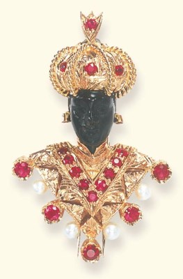 A DIAMOND, RUBY AND HARDSTONE