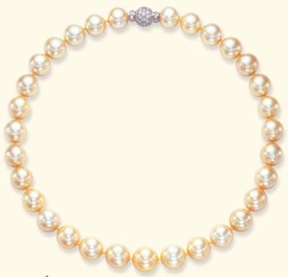 A SINGLE-STRAND GOLDEN PEARL A