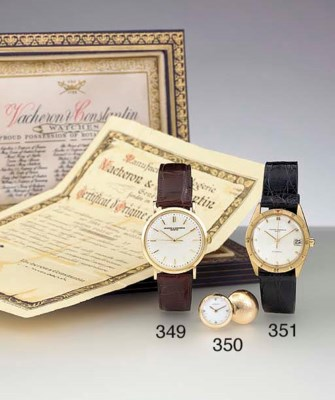 LeCoultre. A pair of 14K gold