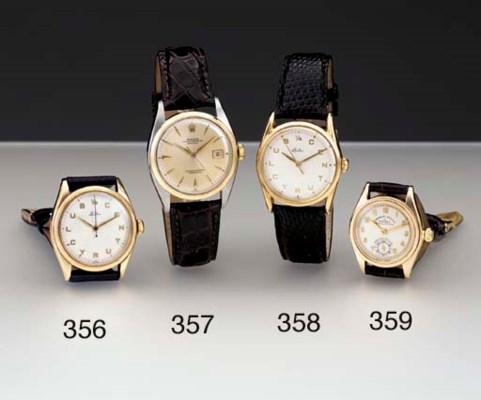 Rolex. A 14K gold water-resist