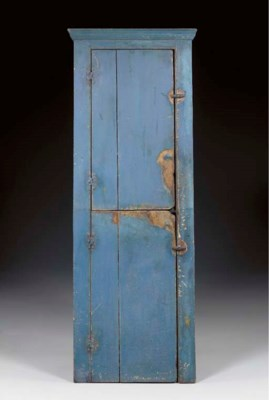 A BLUE-PAINTED SLANT BACK TWO