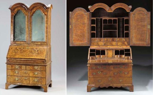 a queen anne walnut double dome bureau cabinet circa. Black Bedroom Furniture Sets. Home Design Ideas