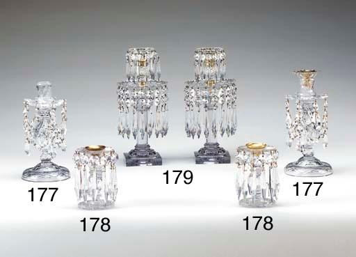 A PAIR OF GEORGE III CUT-GLASS