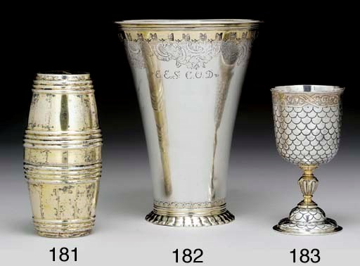 A GERMAN PARCEL-GILT SILVER WI