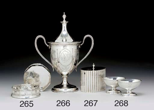 A PAIR OF GEORGE III SILVER WI