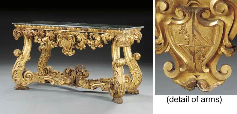 An Italian Baroque style marbl
