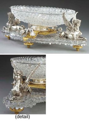 A French ormolu, silvered bron