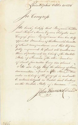 HANCOCK, John (1737-1793), Pre