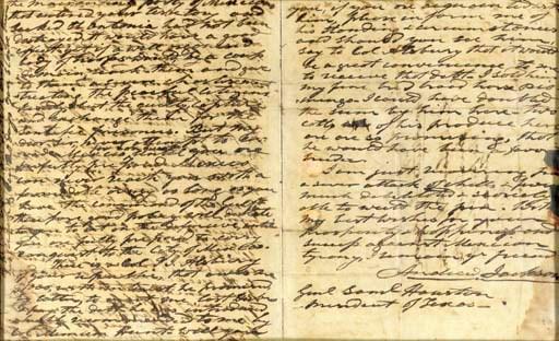 JACKSON, Andrew. Autograph let