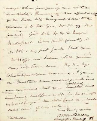 VAN BUREN, Martin. Autograph l