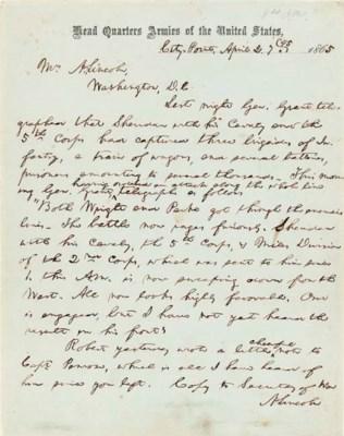 LINCOLN, Abraham. Autograph le