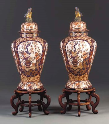 A Pair of Porcelain Vases,