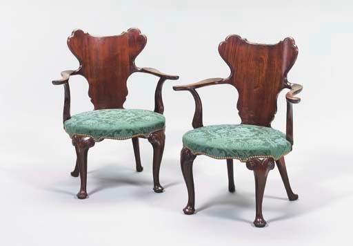A PAIR OF GEORGE II STYLE MAHO