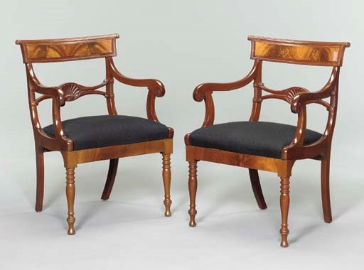 A PAIR OF DANISH NEOCLASSIC MA
