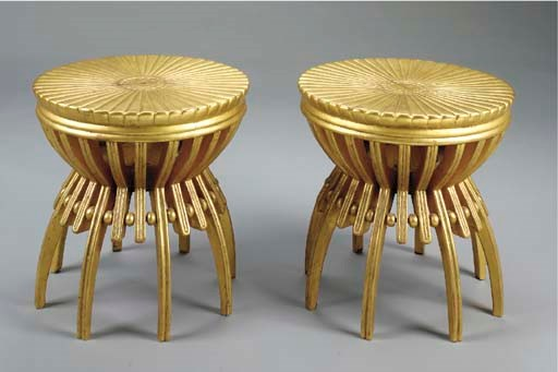 A PAIR OF CARVED GILTWOOD TABO