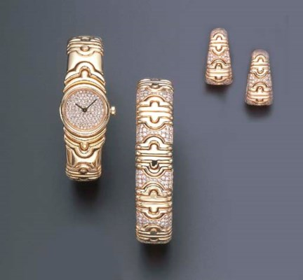 A SET OF DIAMOND AND GOLD