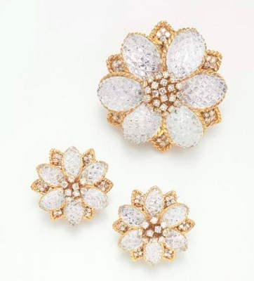 A SET OF DIAMOND AND ROCK CRYS