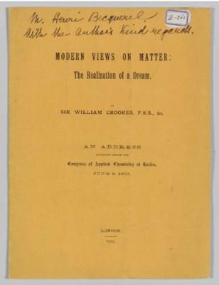 CROOKES, William. Modern Views
