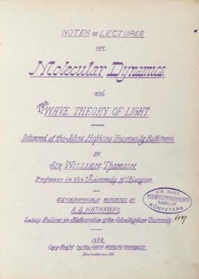 THOMSON, William, Lord Kelvin.