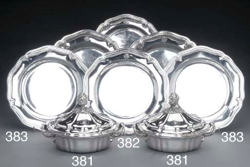 A SET OF FOUR FRENCH SILVER SE
