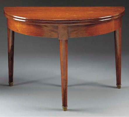 A LOUIS-PHILIPPE MAHOGANY GAME