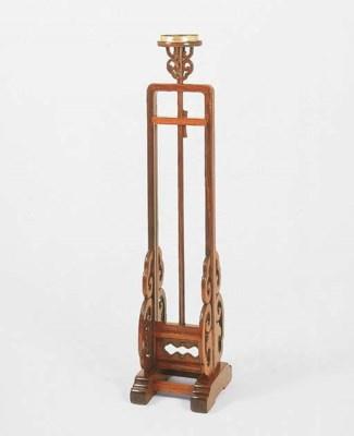 A HUANGHUALI LAMPSTAND, DENGTA
